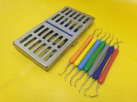 Кюрети грейсі (набір) + касета для стерилізації