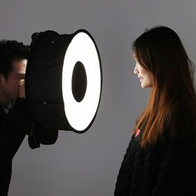 Круговий софтбокс для дентальної фотозйомки